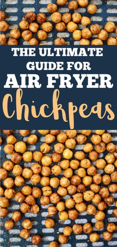 These Air Fryer Chickpeas are the perfect snack or salad topper. Crunchy, jam-packed with protein and completely addicting. You'll want to make these on the daily, for sure. Air Fryer Oven Recipes, Air Frier Recipes, Air Fryer Dinner Recipes, Chickpea Snacks, Chickpea Recipes, Lunch Snacks, Healthy Snacks, Healthy Recipes, Weekly Recipes