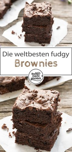 are the best brownies ever! No kidding. In this simple ultimat . - Kleingebäck Rezepte -These are the best brownies ever! No kidding. In this simple ultimat . Ultimate Brownie Recipe, Perfect Brownie Recipe, Brownie Recipes, Cookie Recipes, Dessert Recipes, Beste Brownies, Fudgy Brownies, Chocolate Brownies, Chocolate Desserts