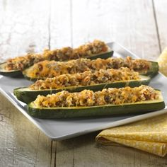 Crispy Stuffed Summer Squash Recipe from @Albertsons Market // Albertsons Market