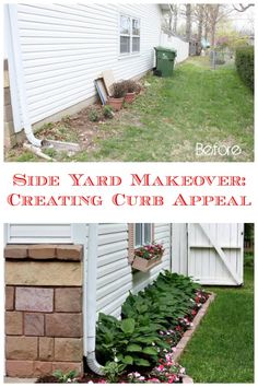 Side yard makeover ~ creating curb appeal