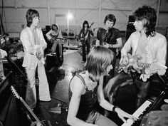 The Rolling Stones. Bobby Keys. Nicky Hopkins. 1972 Tour rehearsals.