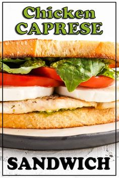 A quick and easy chicken caprese sandwich with thin-cut, well-seasoned chicken breast, tomato, fresh mozzarella, basil and pesto on toasted bread. This sandwich is ready in only 15 minutes and makes a great lunch or quick dinner. #sandwich #chickensandwich #caprese #capresesandwich Chicken Spaghetti Recipes, Grilled Chicken Recipes, Chicken With Italian Seasoning, Chicken Seasoning, Sandwiches For Lunch, Wrap Sandwiches, Best Sandwich Recipes, Caprese Chicken, Fresh Mozzarella