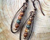 Natural Stone Earrings / Stone Jewelry / E001