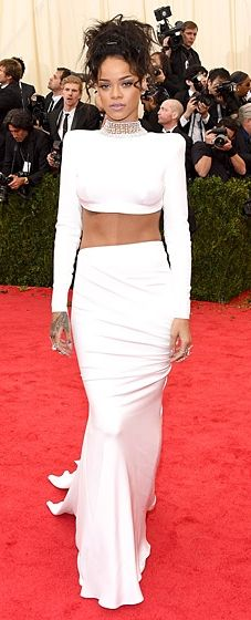 Rihanna was white hot in Stella McCartney at the 2014 Met Gala