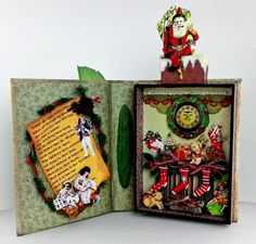 Artfully Musing: Christmas - Christmas Wishes Shadow Box Book open - (image 2 of 2)