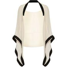 Coast Frankie Kimono , Blush ($56) ❤ liked on Polyvore featuring kimono, shirts, blush, white kimono and short kimono