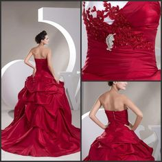 Plain Wedding Dresses Elegent Fall White&Red Bridal Gown Wedding Dresses Sweetheart With A Line Court Train Brooch Appliques Sequins Beading Bridal Gowns Bg103103 Sexy Wedding Gowns From Bridal_gowns, $196.8| Dhgate.Com