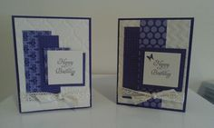 Stampin up birthday cards.  Elementary elegance.