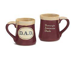 DAD Downright Awesome Dude Coffee Mug 18 oz Porcelain Fathers Day Gift  #burtonBURTON
