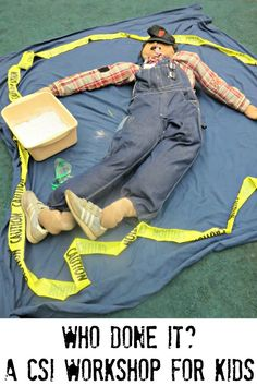 Are your kids interested in forensic science and crime scene investigation. You can build your own CSI workshop for kids at home. School Age Activities, Summer Camp Activities, Science Activities, Activities For Kids, Science Ideas, Science Projects, Educational Activities, Science Experiments, Kids Team Building Activities