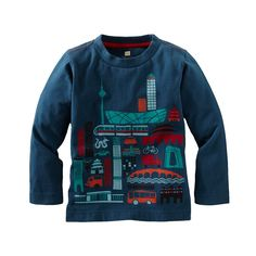 One of Tea Collection's themes this fall is the East.  This take on the hustle and bustle of Beijing is fun for any kid who likes to travel and learn about the world.  Sizes 2-12.