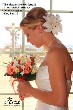 See more Outer Banks Bridal Portraits by ARTZ MUSIC & PHOTOGRAPHY at http://affordableobxweddings.com/bridals
