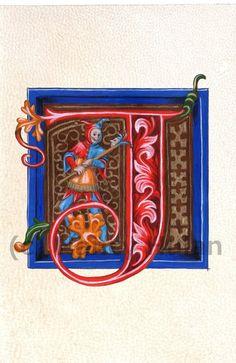 mittelalterliche beleuchteten buchstaben t alphabet buchstaben t mittelalterliche gemalten. Black Bedroom Furniture Sets. Home Design Ideas