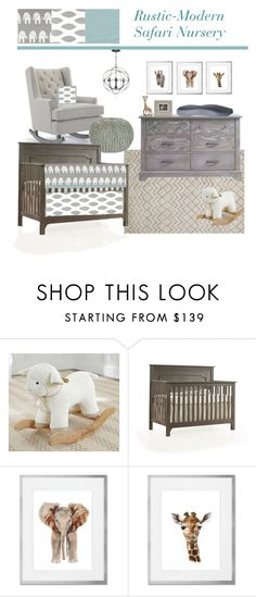 """""""Rustic-Modern Safari Nursery"""" by greenpeababy on Polyvore featuring interior, interiors, interior design, home, home decor, interior decorating, Loloi Rugs, Emerson, modern and rustic"""