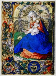 Madonna and Child, a leaf from the Prayer Book of Bona Sforza by Stanisław Samostrzelnik, 1527-1528 (PD-art/old), Bodleian Library
