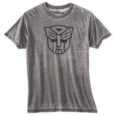 Men's Transformers Burnout Graphic Tee - Gray