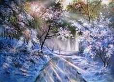 прекрасный зимний пейзаж - Поиск в Google