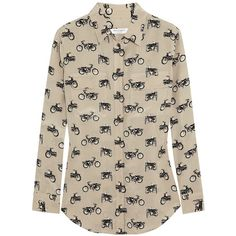 Equipment Beige Signature Printed Silk Shirt ($398) ❤ liked on Polyvore featuring tops, pink shirt, shirts & tops, print top, pattern tops and pink silk top