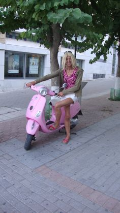 pink scooter girl
