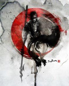 Another beautiful samurai drawings Art And Illustration, Ink Illustrations, Tattoo Samurai, Samurai Drawing, Ronin Samurai, Samurai Art, Samurai Warrior, Fantasy Kunst, Fantasy Art