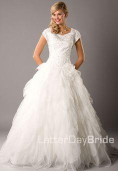Modest Wedding Dress, Malaya | LatterDayBride & Prom