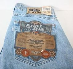 Vintage, 1990 SilverTab Levi's for men. Cool tag on the waist.