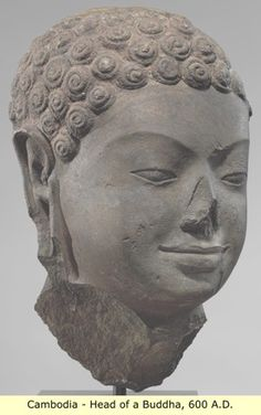 Black Cambodia- Black Buddha which is why the NOSE has been tampered with just like they did with our statues in Kemet..>!!!