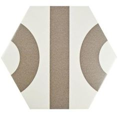 Merola Tile Roll Hex White with Taupe Grey 9-7/8 in. x 11-3/8 in. Porcelain Floor and Wall Tile (10.23 sq. ft. / case) FPERLWG at The Home Depot - Mobile
