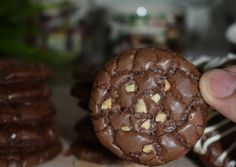 Brownie Cookies, Choco Chip Cookies, Choco Chips, Yummy Cookies, Cake Cookies, Cheesecake Recipes, Cookie Recipes, Dessert Recipes, Marzipan