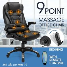 9+Point+Massage+Office+Chair