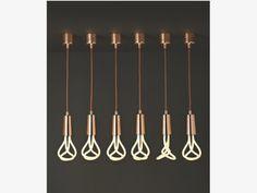 PLUMEN Copper drop cap and pendant set