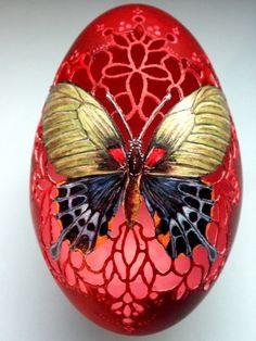 Sonnhild Rössler-D-Gänseei - Design Ort Carved Eggs, Art Carved, Egg Crafts, Easter Crafts, Art D'oeuf, Ostern Wallpaper, Emu Egg, Incredible Eggs, Egg Shell Art