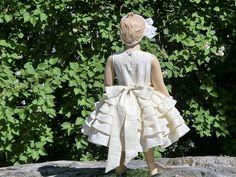 Vestido de la muchacha de flor marfil. por englaCharlottaShop