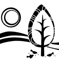 Adesivi murali fiori - Adesivo Piccioni beccano un albero | Ambiance-live.com
