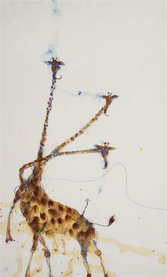 "John Olsen ""Giraffes at Mt Kenya II"" from Etching House"