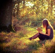 Read outside... (I LOVE to do)
