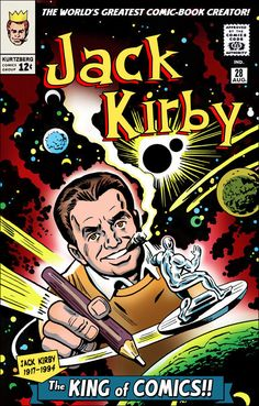 Jack Kirby - creator of Silver Surfer Comic Book Artists, Comic Book Characters, Comic Artist, Comic Character, Marvel Comics Superheroes, Marvel Comic Books, Comic Books Art, Dc Comics, Jack Kirby Art