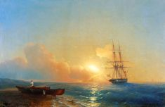 Ivan Aivazovsky  Fishermen on the coast of the sea, 1852