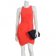 Silk Twist Dress #zimmerman #redorange