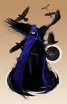 Raven - Daughter of a divine demonic powerful monster father, member of the teen titans and young justice, and a powerful hero of earth. Comic Book Characters, Comic Books Art, Comic Art, Arte Dc Comics, Bd Comics, Marvel Comics, Deathstroke, Chat Origami, Raven Beast Boy