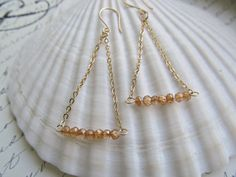 Golden Apricot Mystic Quartz and Gold Chain by HappyTearsbyMicah, $15.00