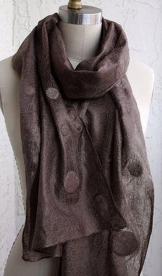 Silk scarf eco-friendly elegant long polka dots woman by GBDesign