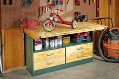 Build a Space Saving Workbench