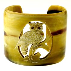 OWL Handmade Organic Horn Cuff Bracelet by quecraft on Etsy, Owl Jewelry, Jewelery, Unique Jewelry, Owl Bracelet, Cuff Bracelets, Whimsical Owl, Horns, Great Gifts, Handmade Gifts