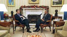 NPR's Morning Edition host Steve Inskeep interviews President Barak Obama in the Oval Office on Thursday, December 17, 2014.