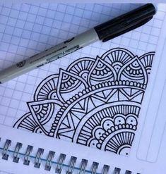Mandala doodle - New Sites Mandala Doodle, Easy Mandala Drawing, Mandala Art Lesson, Doodle Art Drawing, Simple Mandala, Zentangle Drawings, Pencil Art Drawings, Cute Drawings, Drawing Sketches