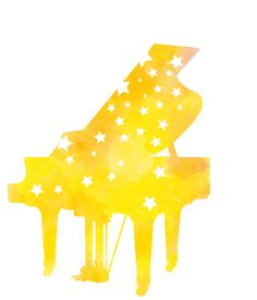 星のピアノイラスト Piano, First Love, Symbols, Seasons, Music, Design, Musica, Musik, First Crush