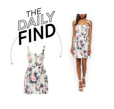 """""""Daily Find: New Look Floral Zip-Front Dress"""" by polyvore-editorial ❤ liked on Polyvore"""