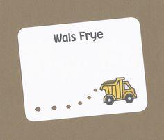 Set of 10 Custom Dump Truck Cards  Great for Boys by CardsByKooper