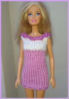 Linmary Knits: Barbie knitted dresses
